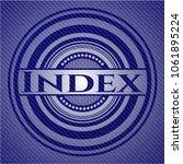 index badge with denim... | Shutterstock .eps vector #1061895224
