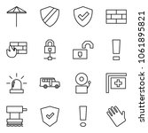 flat vector icon set   umbrella ... | Shutterstock .eps vector #1061895821
