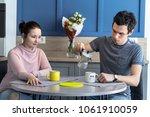 romantic couple. beautiful...   Shutterstock . vector #1061910059