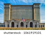 michigan central railway station | Shutterstock . vector #1061919101