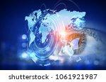 best media technologies. mixed... | Shutterstock . vector #1061921987