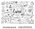 management infographic concept... | Shutterstock .eps vector #1061929241