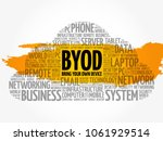 byod   bring your own device... | Shutterstock .eps vector #1061929514