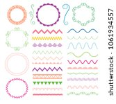 set of hand drawn elements for... | Shutterstock .eps vector #1061934557