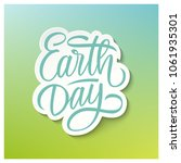 earth day holiday card with...   Shutterstock . vector #1061935301