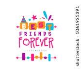 best friend forever logo... | Shutterstock .eps vector #1061935391