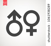 gender sign icon. male and... | Shutterstock .eps vector #1061938289