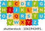 foam baby kids play mat... | Shutterstock .eps vector #1061943491