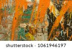abstract concrete wall... | Shutterstock . vector #1061946197
