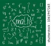mathematical handdrawn doodle... | Shutterstock .eps vector #1061947265