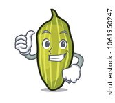 thumbs up cardamom character...   Shutterstock .eps vector #1061950247