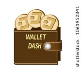 dash wallet with coins on a... | Shutterstock .eps vector #1061952341