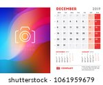 december 2019. desk calendar... | Shutterstock .eps vector #1061959679