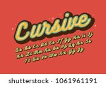 vector of stylized vintage font ... | Shutterstock .eps vector #1061961191