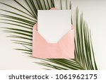 minimal composition with a pink ...   Shutterstock . vector #1061962175