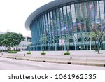 Small photo of TAIPEI TAIWAN - march 7, 2018: Taipei Arena. The Taipei Arena is an important indoor facility within the city of Taipei's overall exercise facility construction plan.