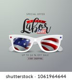 labor day sale promotion... | Shutterstock .eps vector #1061964644