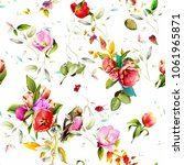seamless floral background... | Shutterstock .eps vector #1061965871