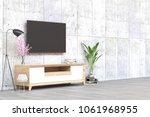 home minimal pastel interior in ... | Shutterstock . vector #1061968955