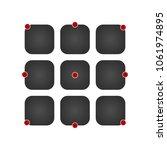 ui icon set vector black app...