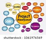 project management mind map... | Shutterstock .eps vector #1061976569