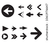 arrow icon set isolated on... | Shutterstock .eps vector #1061976647