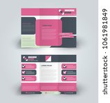brochure template. business... | Shutterstock .eps vector #1061981849
