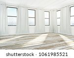 bright spacious empty... | Shutterstock . vector #1061985521