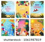 nautical summer cards. marine... | Shutterstock .eps vector #1061987819