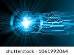 binary circuit board future... | Shutterstock .eps vector #1061992064