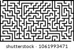 labyrinth of medium complexity. ... | Shutterstock .eps vector #1061993471