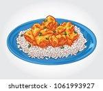 vector illustration of chicken... | Shutterstock .eps vector #1061993927