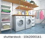 design room for washing and... | Shutterstock . vector #1062000161