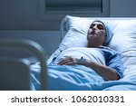 sick  elderly woman with a... | Shutterstock . vector #1062010331