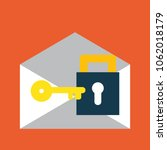 email icon with lock icon for... | Shutterstock .eps vector #1062018179