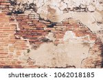 old cracked brick wall texture... | Shutterstock . vector #1062018185
