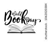 world book day. vector... | Shutterstock .eps vector #1062020384