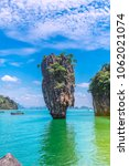 landscape of amazing nature... | Shutterstock . vector #1062021074
