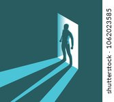 isometric concept silhouette of ... | Shutterstock .eps vector #1062023585