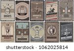 vintage colored medieval... | Shutterstock .eps vector #1062025814