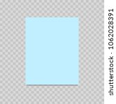 blue paper sheet on transparent ... | Shutterstock .eps vector #1062028391