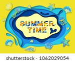 summer typography design with... | Shutterstock .eps vector #1062029054