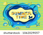 summer typography design with... | Shutterstock .eps vector #1062029057