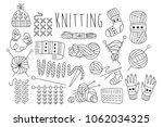 hand drawn vector set of icons... | Shutterstock .eps vector #1062034325
