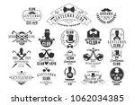 monochrome vector set of... | Shutterstock .eps vector #1062034385
