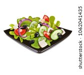 greek salad  vector | Shutterstock .eps vector #1062041435