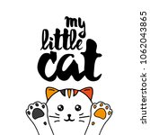 multicolor cat. lettering with... | Shutterstock .eps vector #1062043865