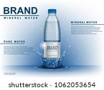 pure mineral water ad  plastic... | Shutterstock .eps vector #1062053654