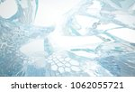 abstract white and blue water... | Shutterstock . vector #1062055721