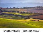 beautiful solar meadows in italy | Shutterstock . vector #1062056069
